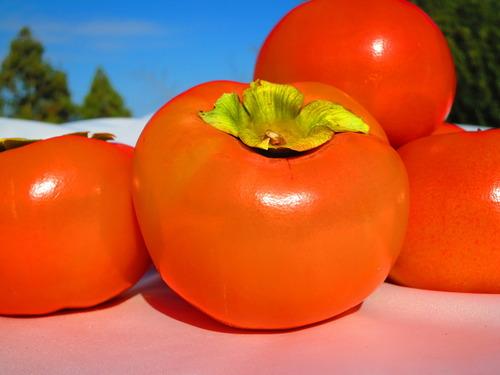 柿のアップ